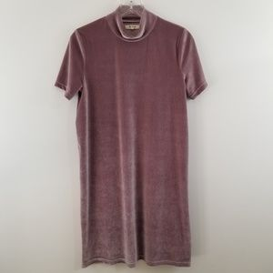 Madewell Light Purple Velvet Mock Dress M